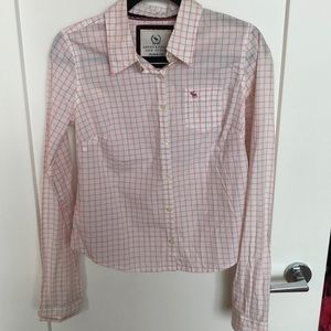 Abercrombie & Fitch Pink & White Button-Down Shirt